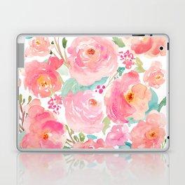 Watercolor Peonies Summer Bouquet Laptop & iPad Skin