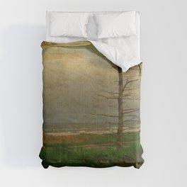 Landscape   Desolate Beach   Stormy Seascape   PEI Canada   Nadia Bonello Comforters