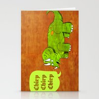 dino Stationery Cards featuring Dino by @DrunkSatanRobot