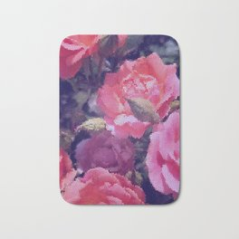 Stained Roses Bath Mat