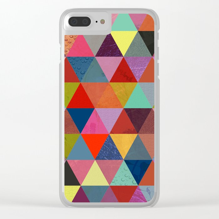 Abstract #287 Clear iPhone Case