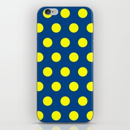 Maize and Blue polka dots iPhone Skin