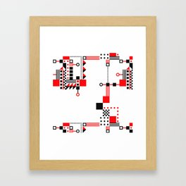 Tekno Abstrakt Framed Art Print