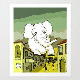 The White Elephant Art Print