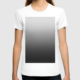 Gray to Black Horizontal Linear Gradient T-shirt