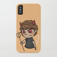 cyrilliart iPhone & iPod Cases featuring Emoji Devil: Louis by Cyrilliart