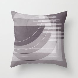 Stairs Heavenward in Shades of Aubergine Throw Pillow