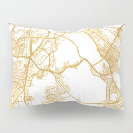 MECCA SAUDI ARABIA CITY STREET MAP ART Pillow Sham