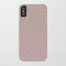 PolkaDots-Peach on Rose iPhone X Slim Case