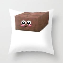 I'm Sweet And Moist Funny Brownie Pun Throw Pillow