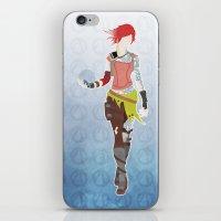 borderlands iPhone & iPod Skins featuring Borderlands 2 - Lilith by LightningJinx