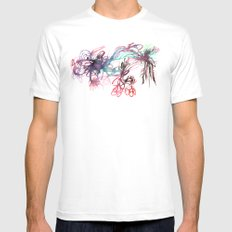 Galaxies MEDIUM White Mens Fitted Tee