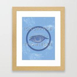 Erudite Manifesto Framed Art Print