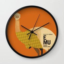 Hello Emu Wall Clock