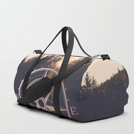 Rose Gold Compass Forest Duffle Bag