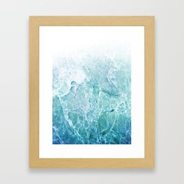 Sea Dream Marble - Aqua and blues Framed Art Print