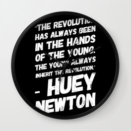 The Revolution of The Young - Huey Newton Wall Clock
