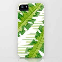 Tropical Leaves Watercolor Painting iPhone Case