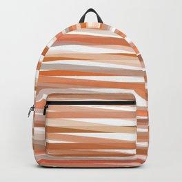 Fall Orange brown Neutral stripes Minimalist Backpack