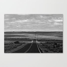 Somewhere Between Here and There in BNW Canvas Print