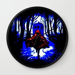 Red Riding Hood Tardis Wall Clock