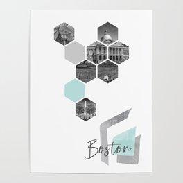 Urban Design BOSTON Cityscapes Poster