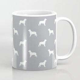 English Springer Spaniel dog breed pet art dog silhouette unique dog breeds grey and white Coffee Mug