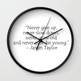 James Taylor, typography Wall Clock