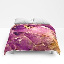 Golden Gleaming Amethyst Crystal Comforters