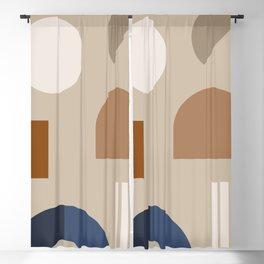 Minimal Geometric Shapes 73 Blackout Curtain