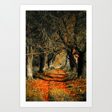 Autumn rust Art Print