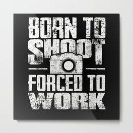 Camera Photographer Metal Print