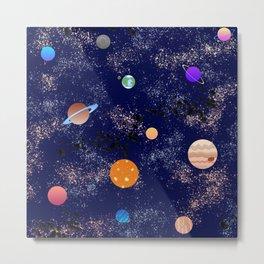 Space Theme Metal Print