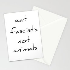 eat fascists not animals Stationery Cards