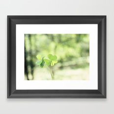 Finding Love in Nature Framed Art Print