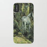 pixies iPhone & iPod Cases featuring Unicorn & Pixies by Mike Lowe