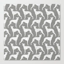 Whippet Silhouette(s) Canvas Print