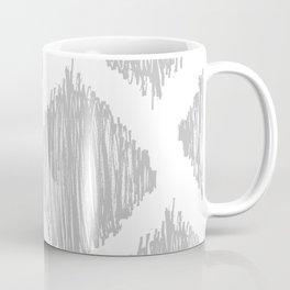 Gray Scribble Diamonds Coffee Mug