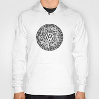 volkswagen Hoodies featuring Volkswagen Steampunk Mechanical Doodle by Squidoodle