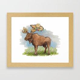Mariachi Moose Framed Art Print