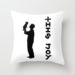 THIS JOY ambigram (turn your head 90 degrees :) Throw Pillow