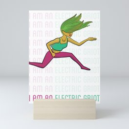 I Am An Electric Griot: Leap Mini Art Print
