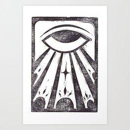 Clarity (White) Art Print