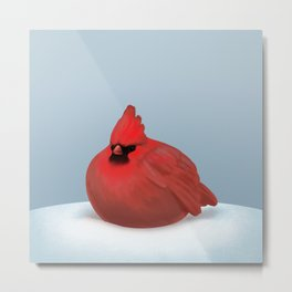 After Christmas cardinal bird Metal Print