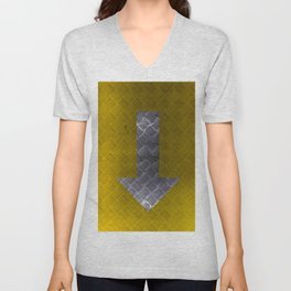 Industrial Arrow Tread Plate - Down Unisex V-Neck