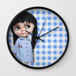 Baby Blue Vichy by Erregiro Wall Clock