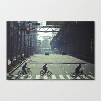 kobe Canvas Prints featuring Kobe riders by The Kitcheners