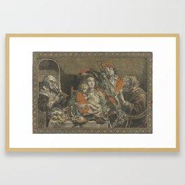Zo d ouden zongen, zo pijpen piepen de jongn, anonymous, after Schelte Adamsz. Bolswert, Jacob Jorda Framed Art Print