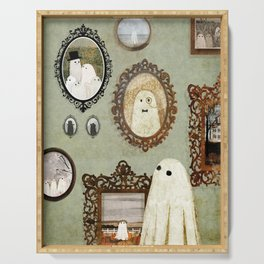 There's A Ghost in the Portrait Gallery Serving Tray