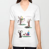 fairy tale V-neck T-shirts featuring fairy tale by notbook